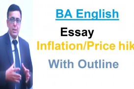 004 Essay Example On Inflation With Outline Stupendous In Pakistan