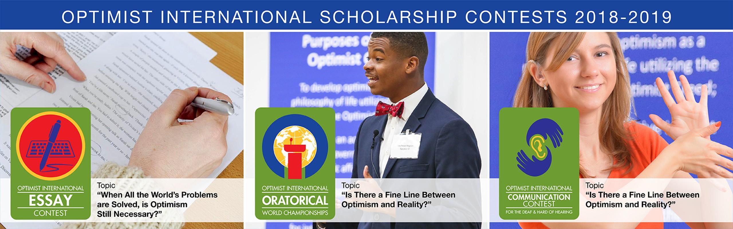 optimist international scholarship essay