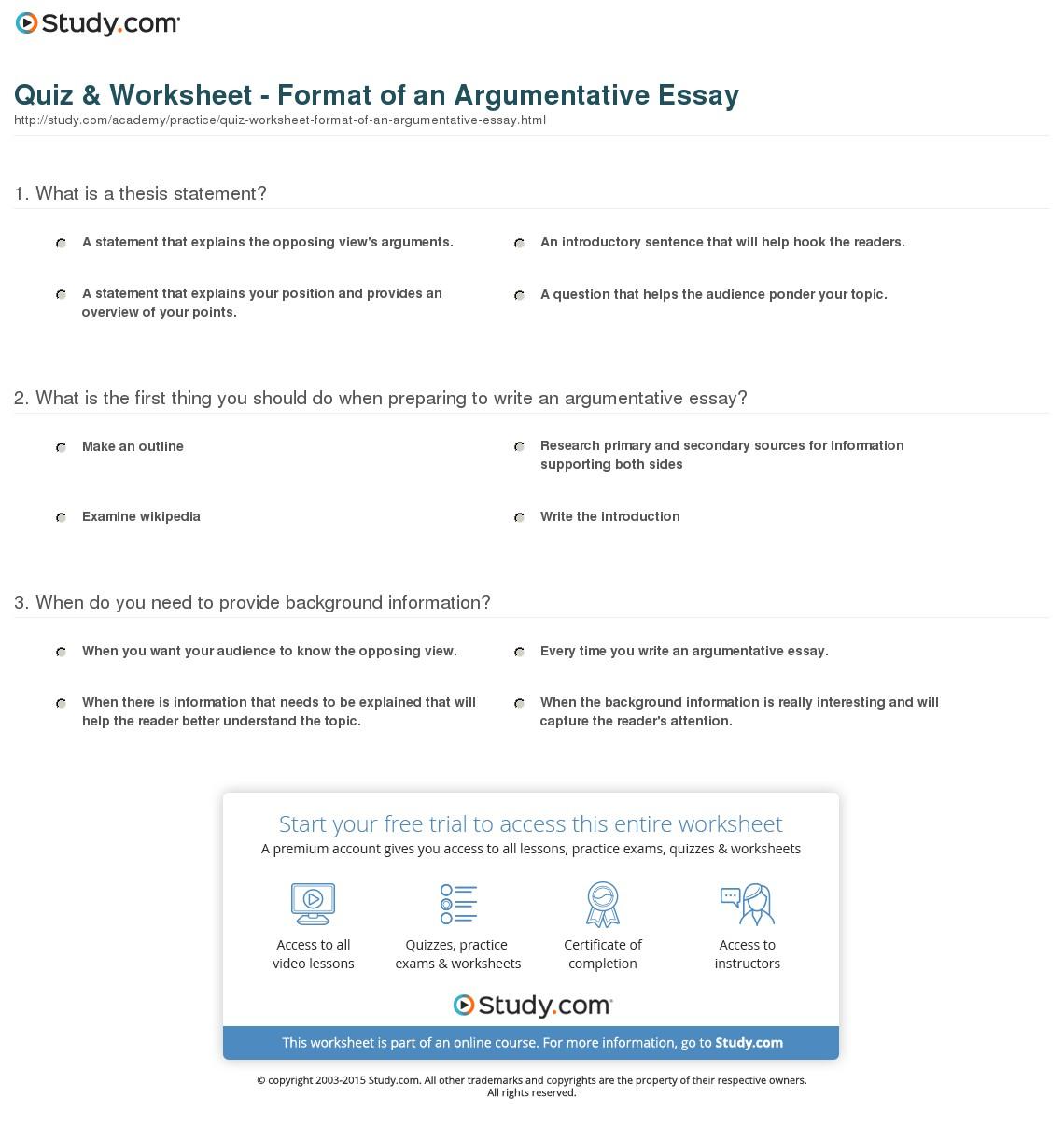 004 Essay Example Quiz Worksheet Format Of An Argumentative Fearsome Definition Define Persuasive/argumentative Pdf Full