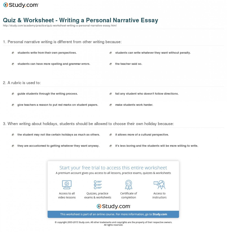Help me write a narrative