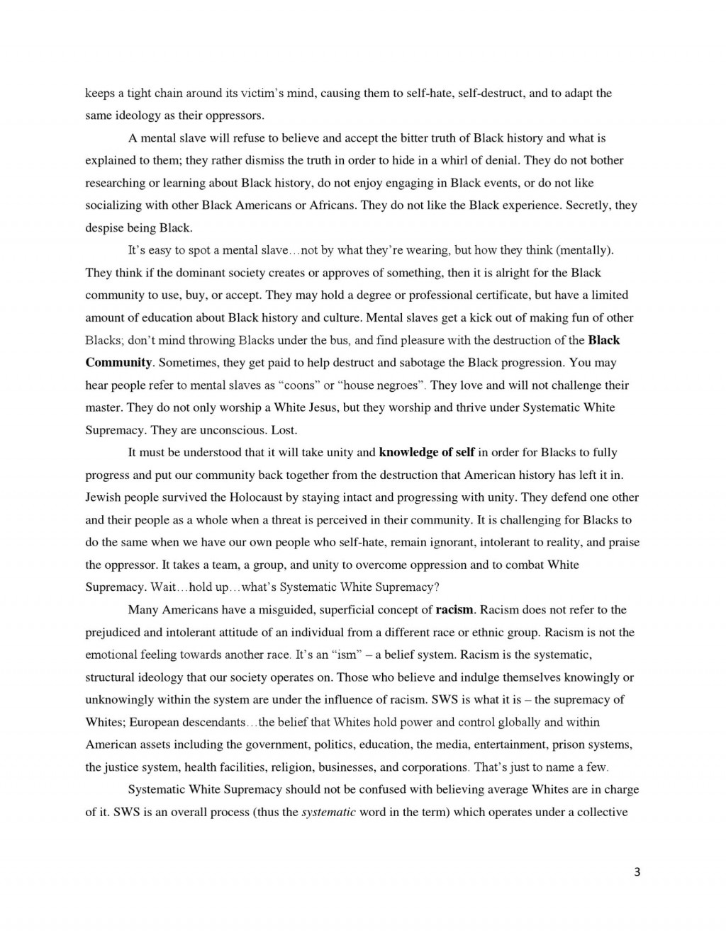 004 Essay Example Racism In America Large Striking Large