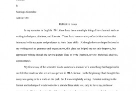 004 Essay Example Reflective Essays 007151533 1 Magnificent On English Class Examples Nursing About Life