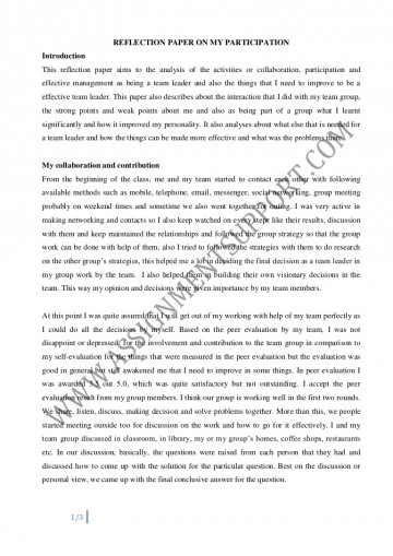 004 Essay Example Reflective Reflectiveessay Phpapp02 Thumbnail Amazing Introduction English 101 Rubric 360