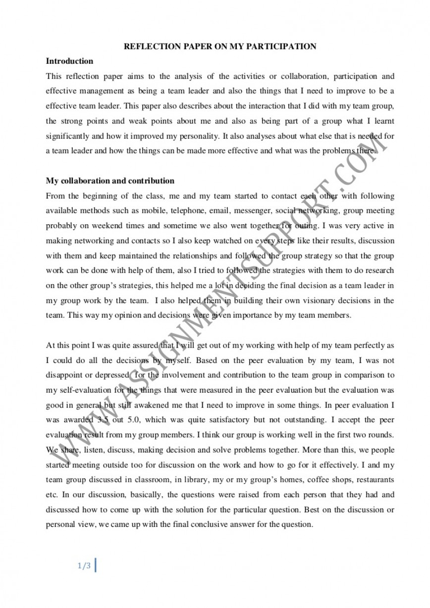 004 Essay Example Reflective Reflectiveessay Phpapp02 Thumbnail Amazing Introduction English 101 Rubric 868