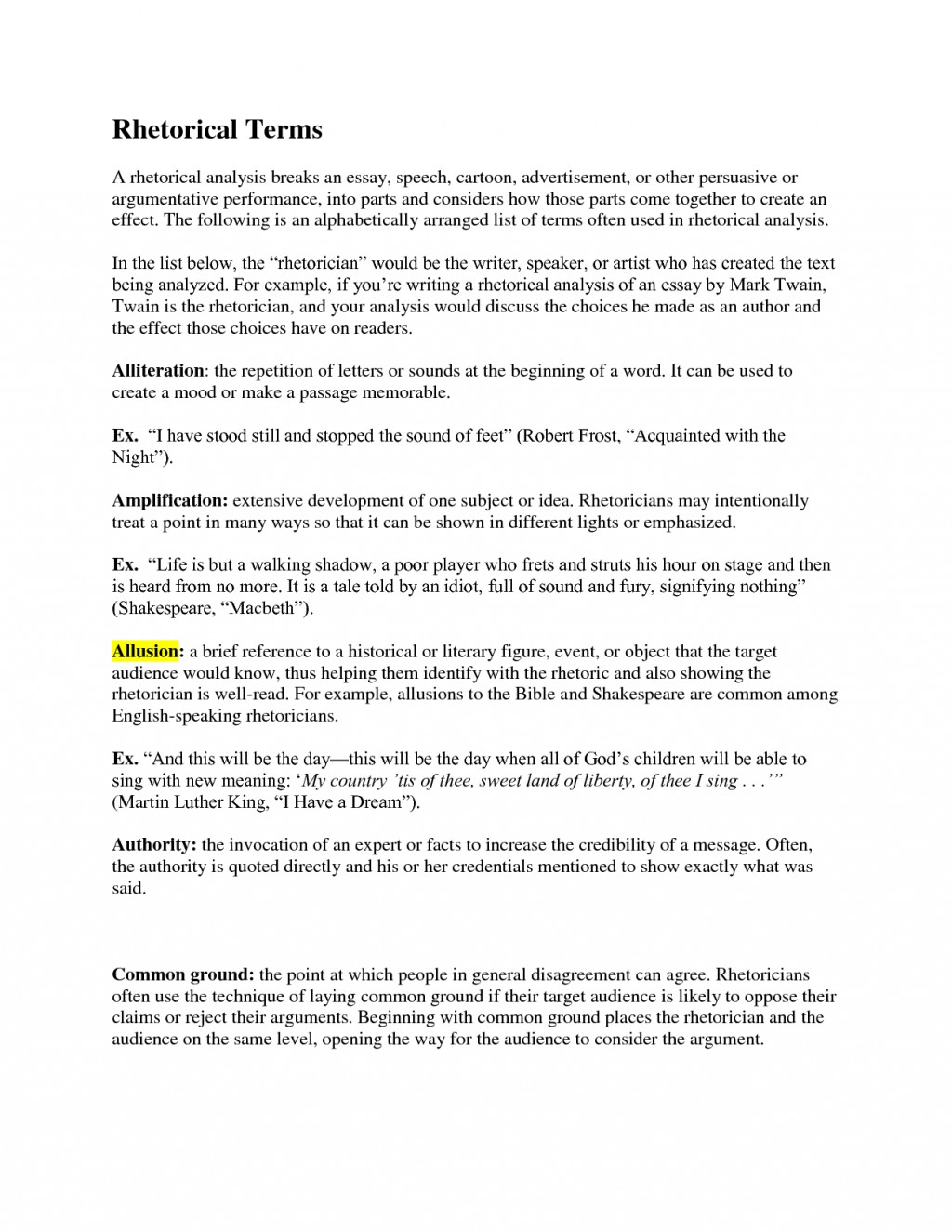 014 Essay Example Using Rhetorical Devices In Essays Do You