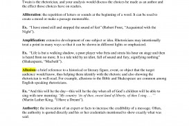 004 Essay Example Rhetorical Dreaded Definition Analysis Meaning