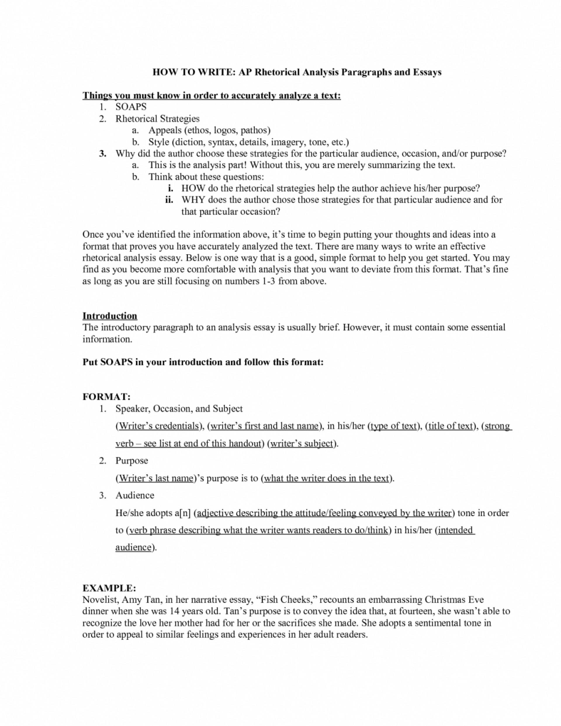 004 Essay Example Rhetorical Samples Analysis Outline Ap English ...