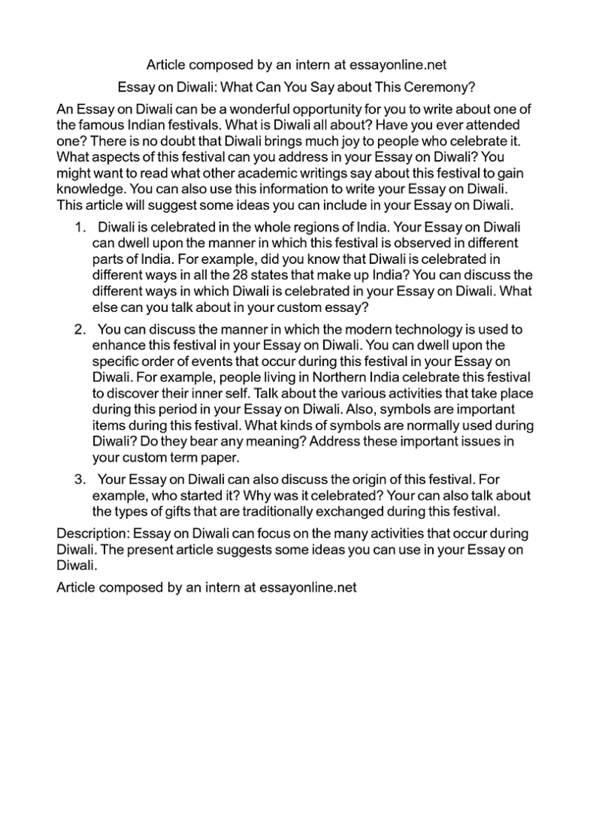 004 Essay Example Simple On Diwali In English For Class Striking 1 My Favourite Festival 1920