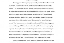 004 Essay Example Single Parent Struggle Argumentative The Real Effects Of 791px Expository Sam Parenting In Fascinating India