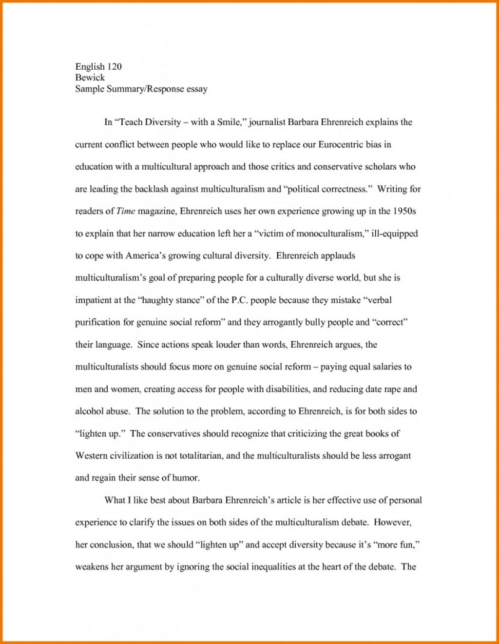 004 Essay Example Summary Of Essays Article About The Best Astounding College Analysis Paper Examples Apa Large