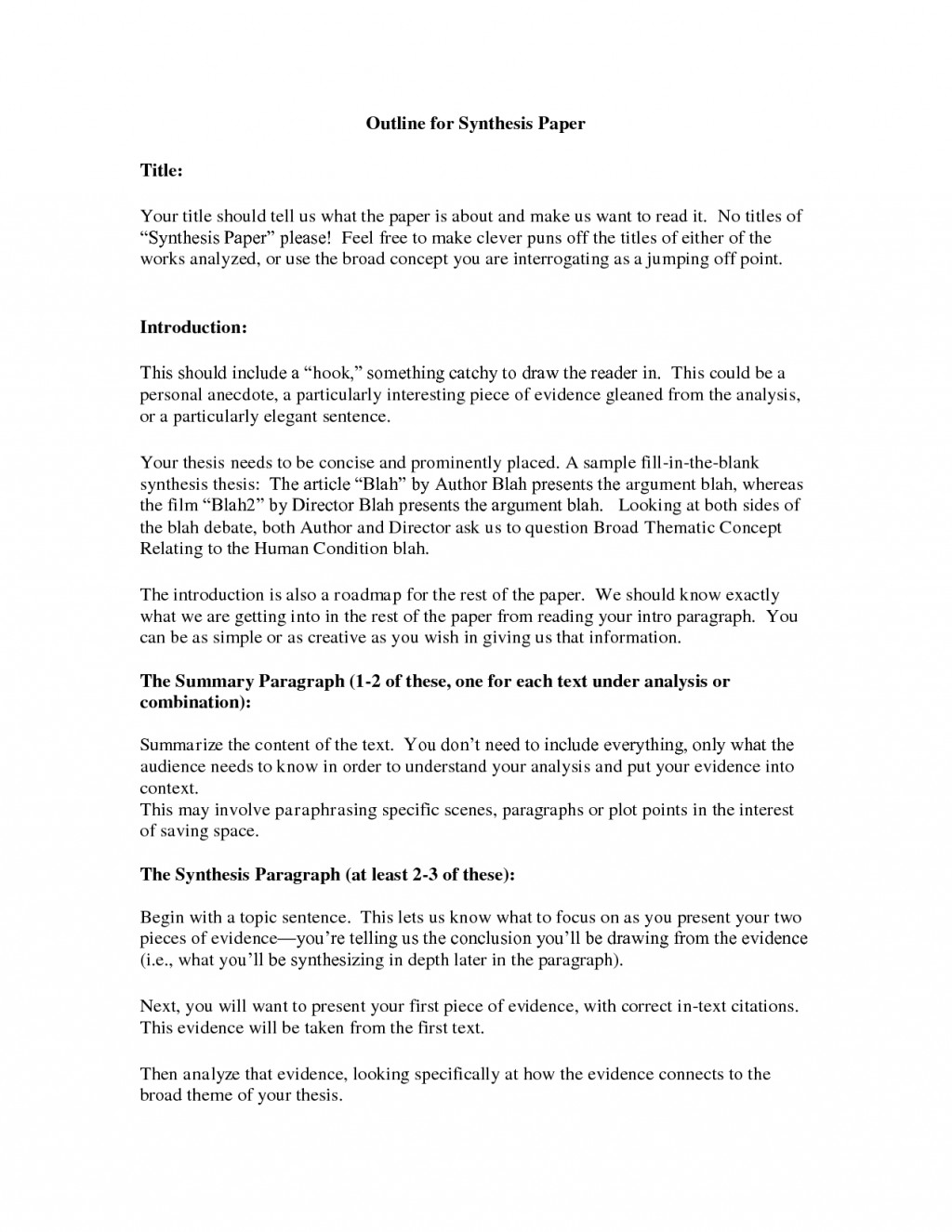 004 Essay Example Synthesis Stupendous Outline Ap Lang Layout Large
