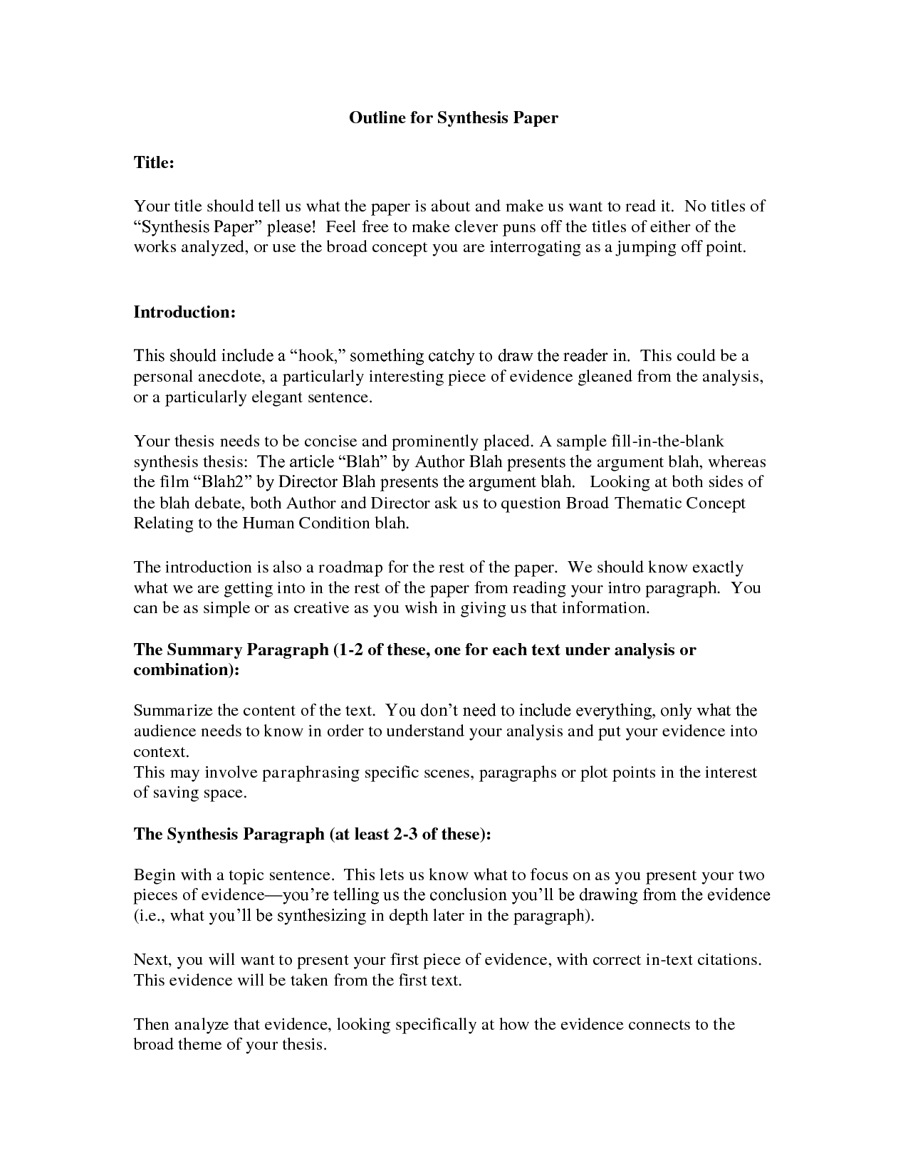 004 Essay Example Synthesis Stupendous Outline Ap Lang Layout Full