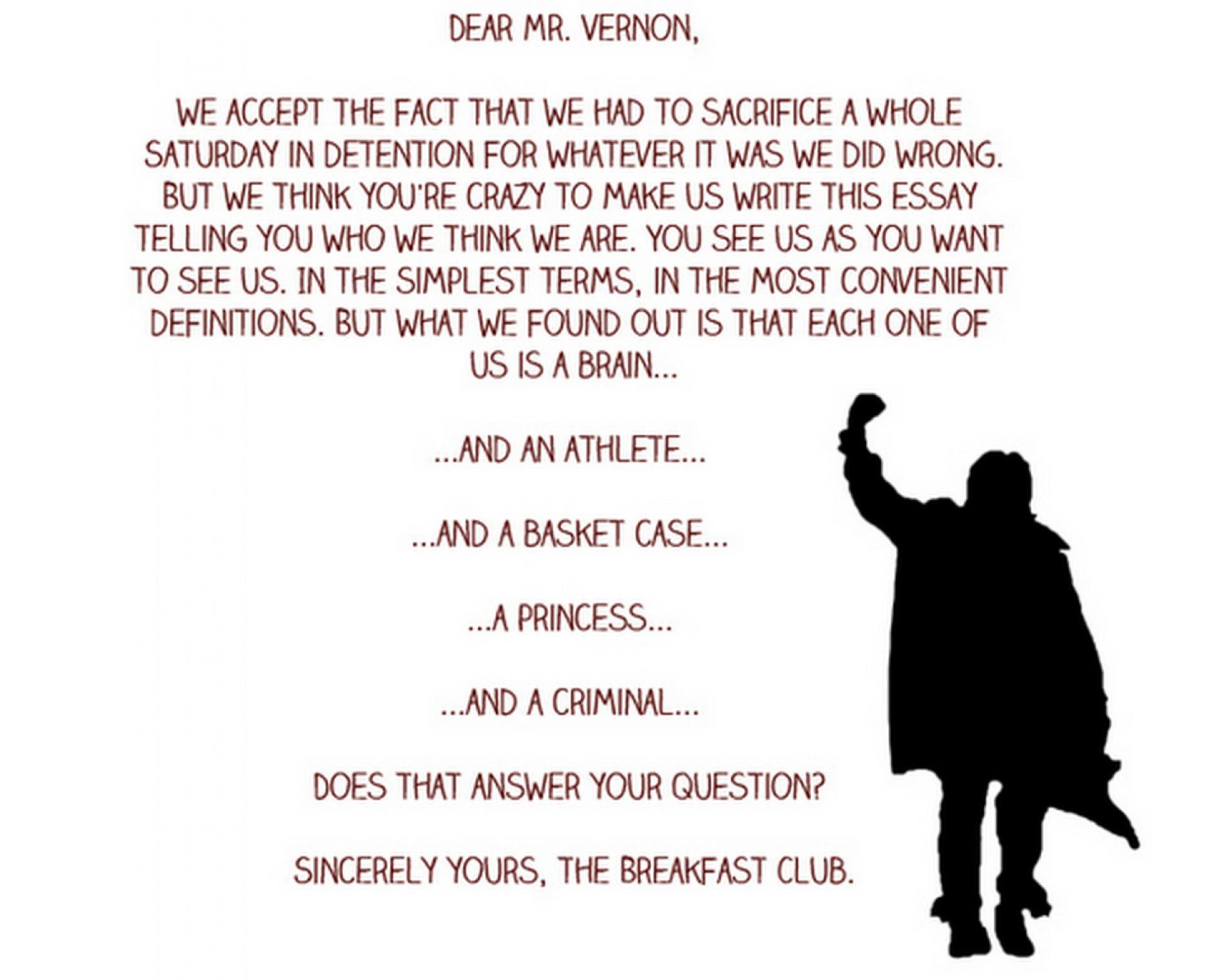 004 Essay Example The Breakfast Breathtaking Club Scene Introduction Analysis 1920