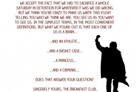 004 Essay Example The Breakfast Breathtaking Club Introduction Analysis Stereotypes