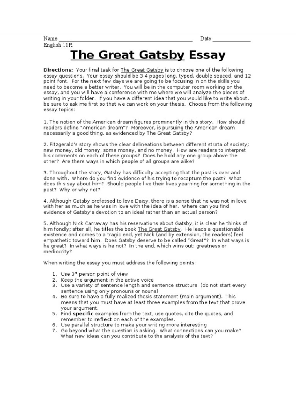 004 Essay Example The Great Gatsby Final 588d28d9b6d87f5dbd8b4963 American Fantastic Dream Conclusion Pdf Free Large