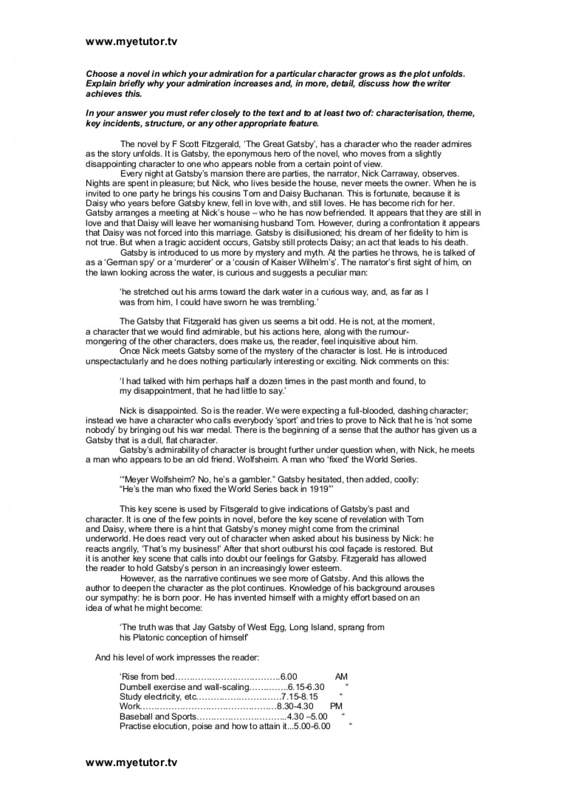 004 Essay Example Thegreatgatsby Essayoncharacter Phpapp01 Thumbnail The Great Gatsby Stirring Themes Money Theme American Dream 1920