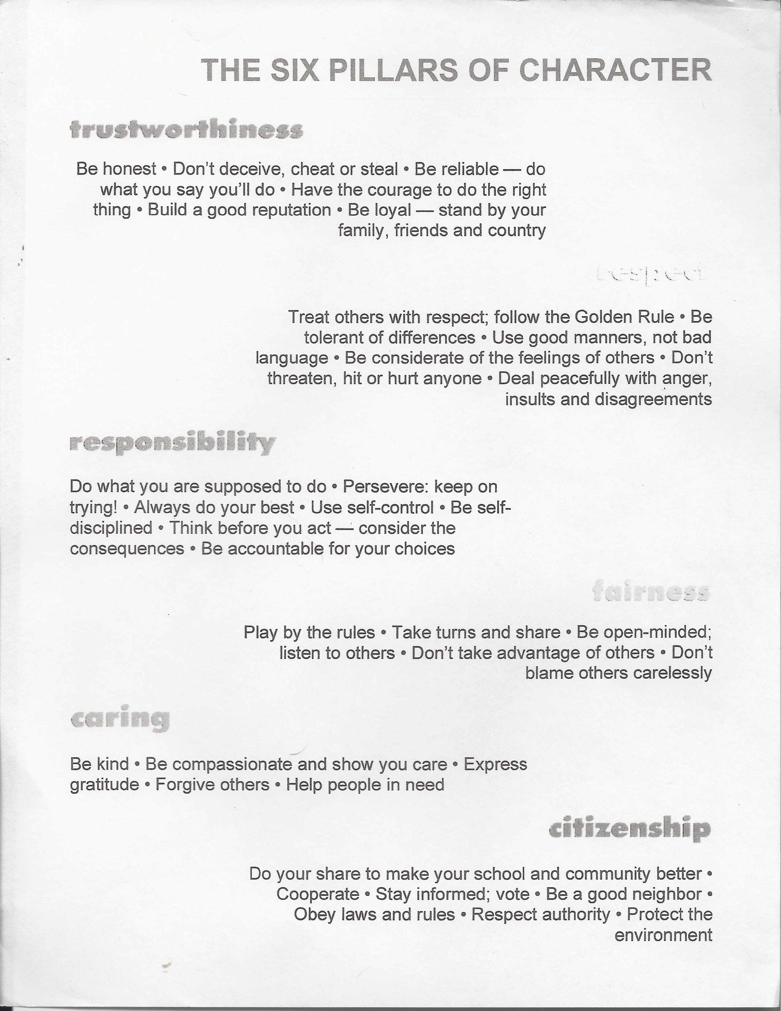 004 Essay Example Trust Pillars Of Character Fantastic Titles Essays Free Full
