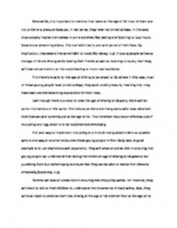004 Essay Example Why Not To Text And Rare Drive Persuasive On 360