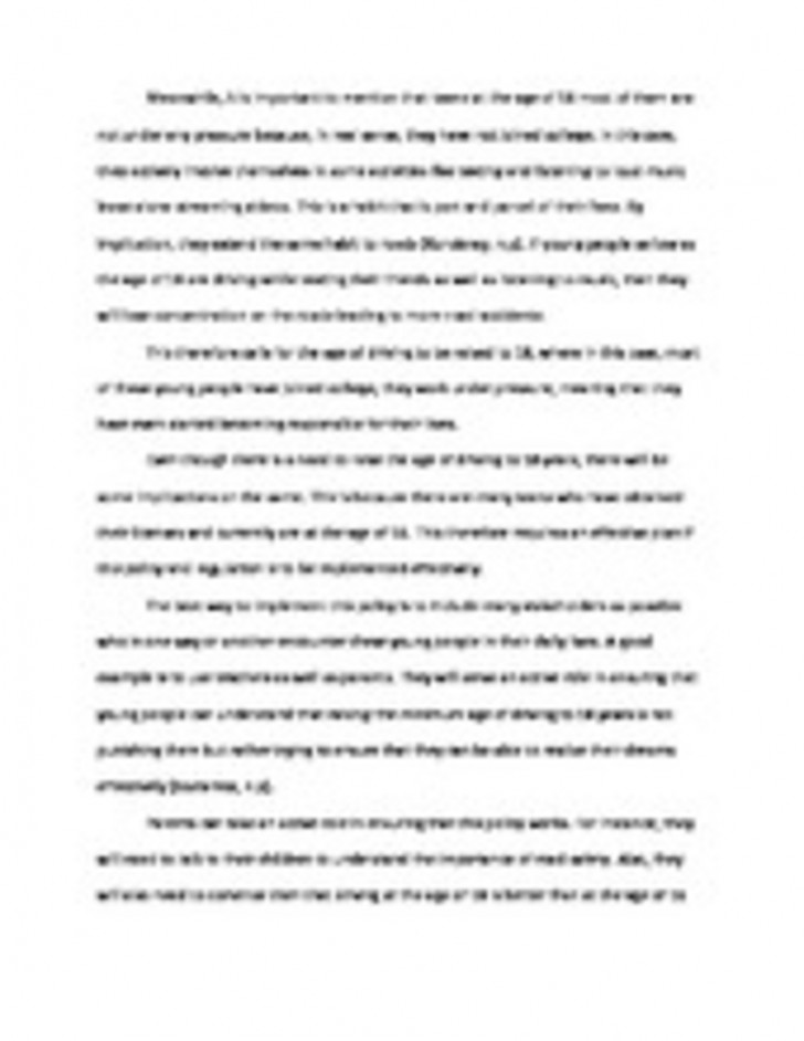 004 Essay Example Why Not To Text And Rare Drive Persuasive On 728