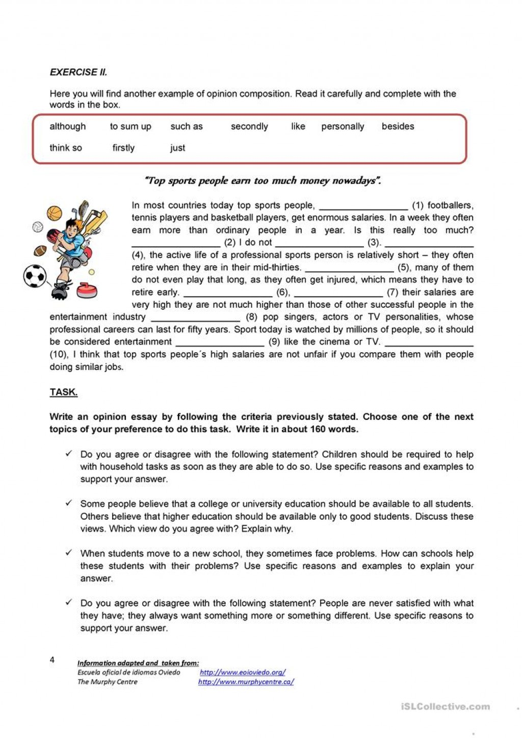 004 Essay Example Writing An Opinion Creative Tasks 80444 4 How To Unbelievable Write Conclusion On A Book Video Large