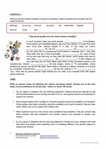 004 Essay Example Writing An Opinion Creative Tasks 80444 4 How To Unbelievable Write 3rd Grade College 360