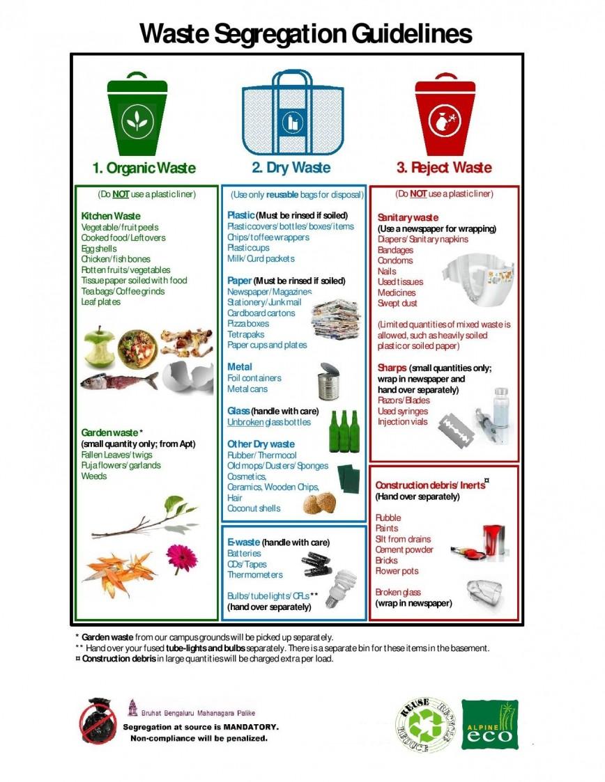 004 Essay Example20segregation20handout Segregating Fascinating Waste Introduction In School 868