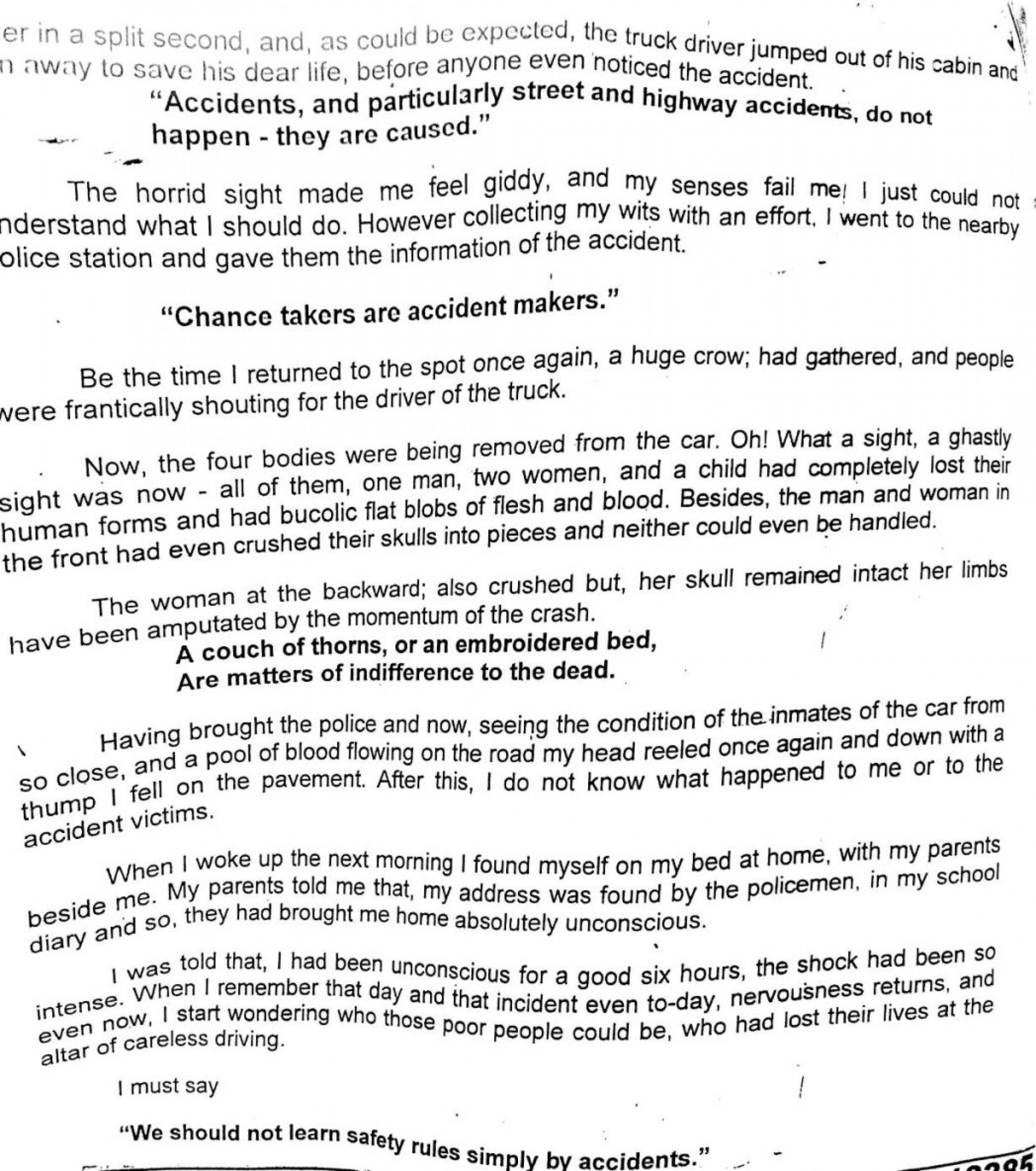 essay in english for students road accident write an on happy    essay in english for students road accident write an on happy new  year x example