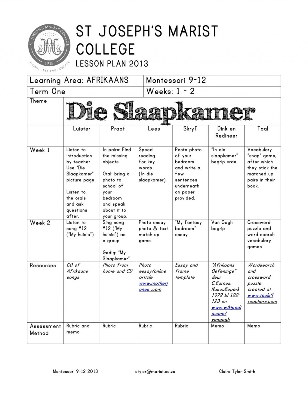 004 Essay Topics For Grade Afrikaans20lesson20plan20and20poem Page Jpg Best 8 Writing Skills 8th Graders Large