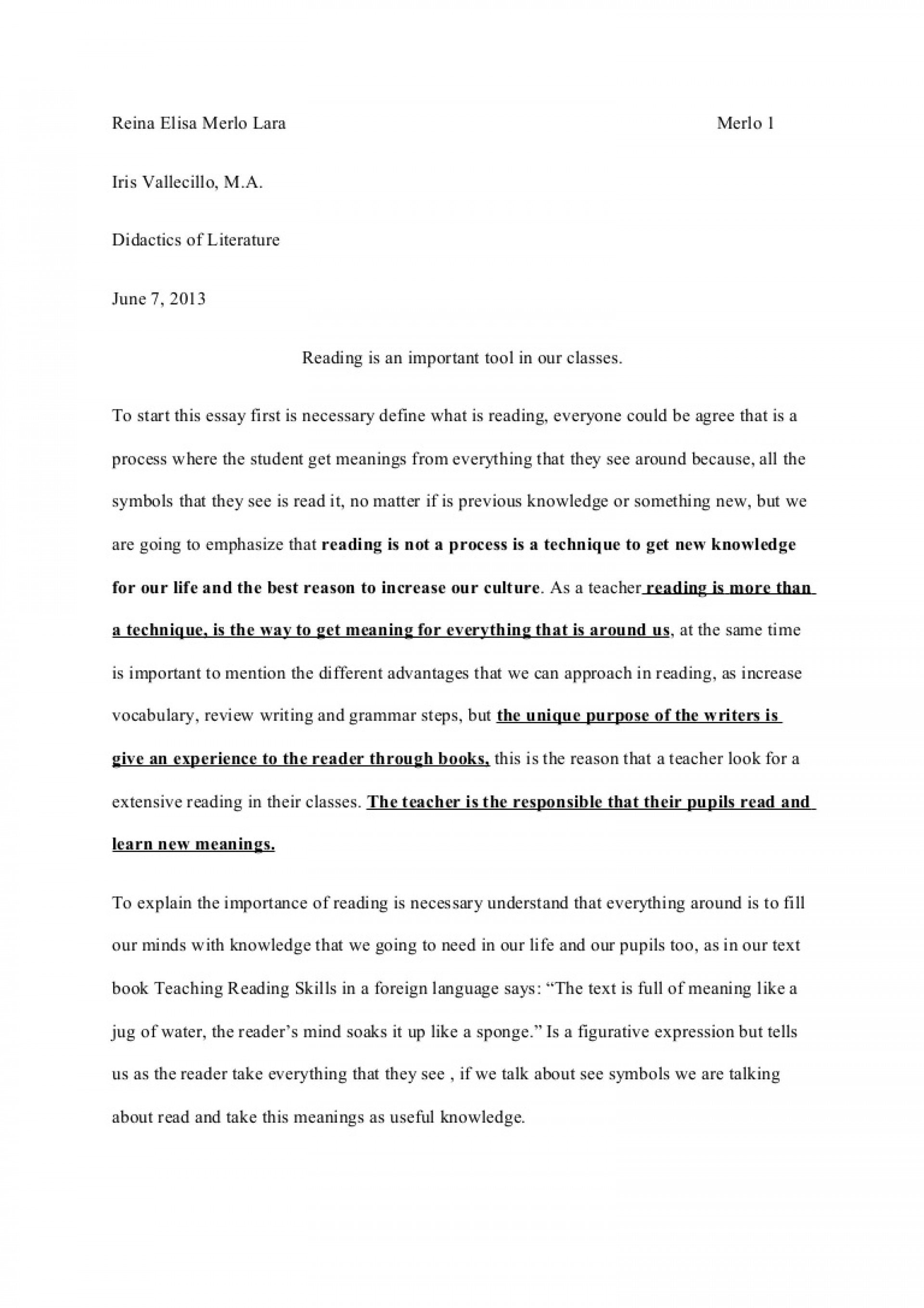 advantages of reading books essay