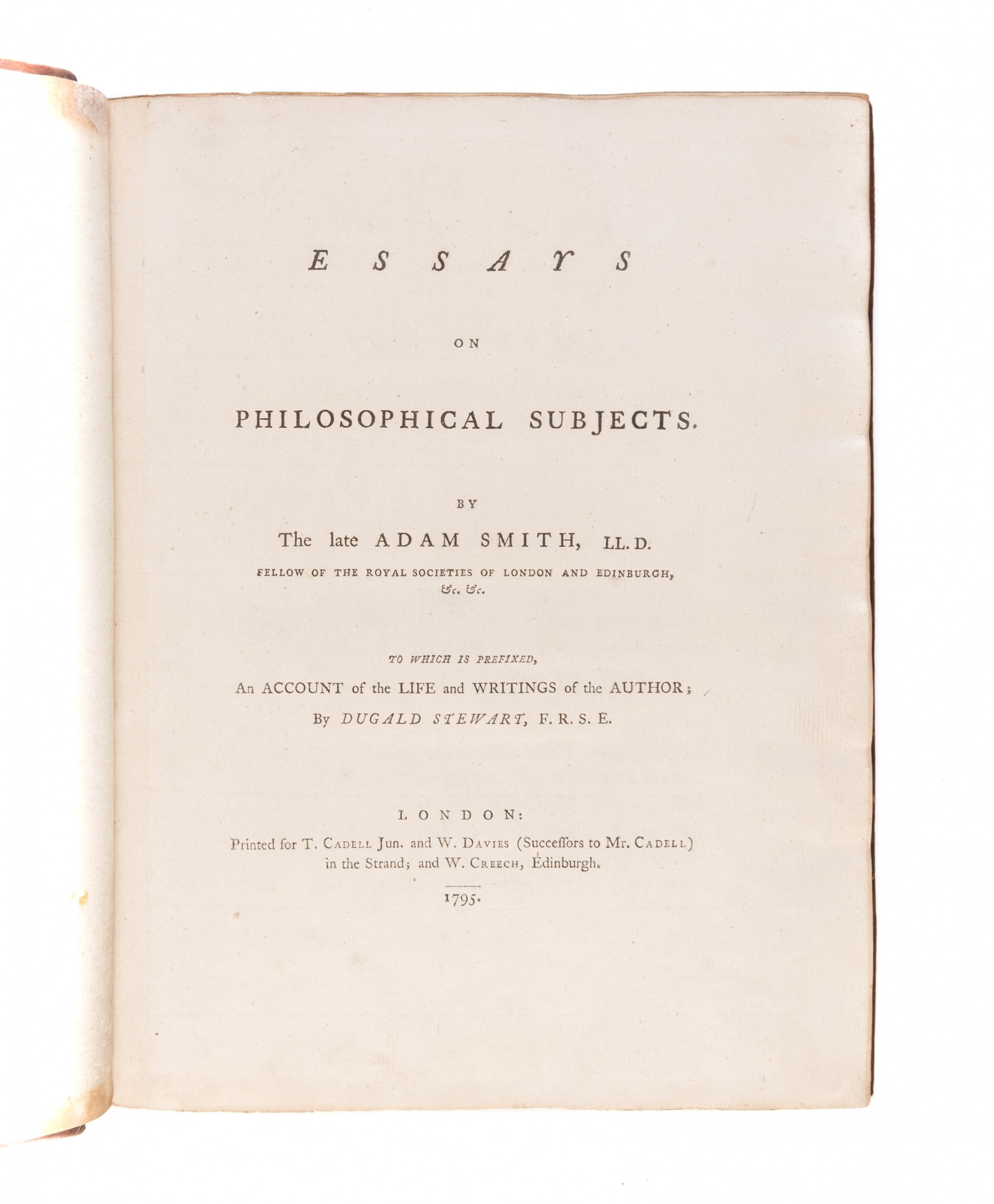 004 Essays On Philosophical Subjects 55036 01 Essay Best Summary Adam Smith 1920
