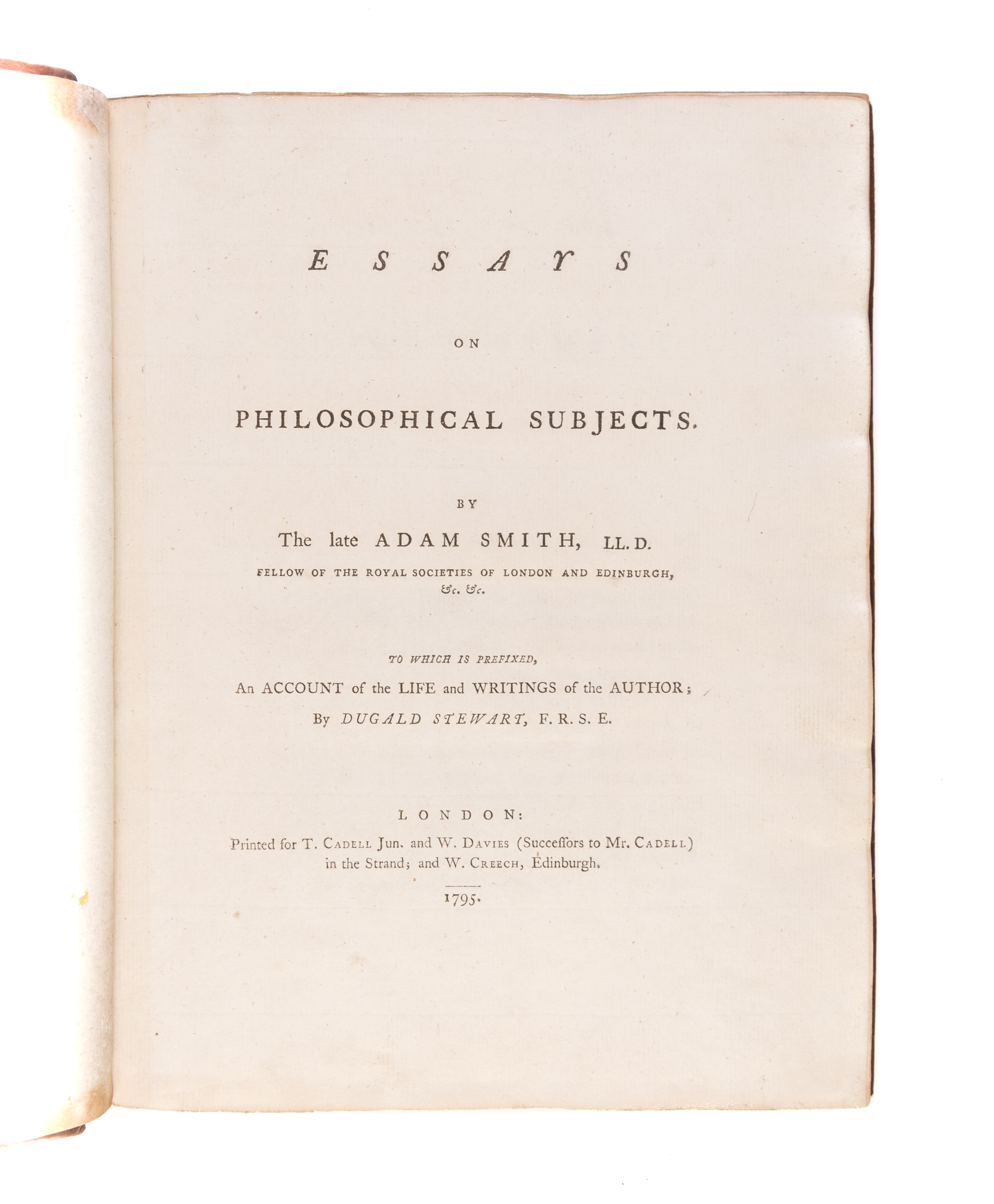 004 Essays On Philosophical Subjects 55036 01 Essay Best Smith Pdf Full