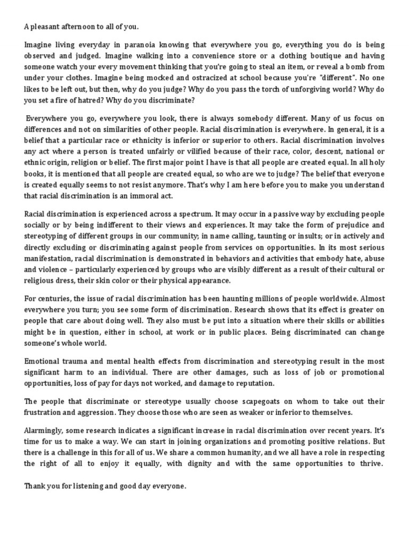 004 Essays On Racism Essay Unbelievable In Schools Best Argumentative Large