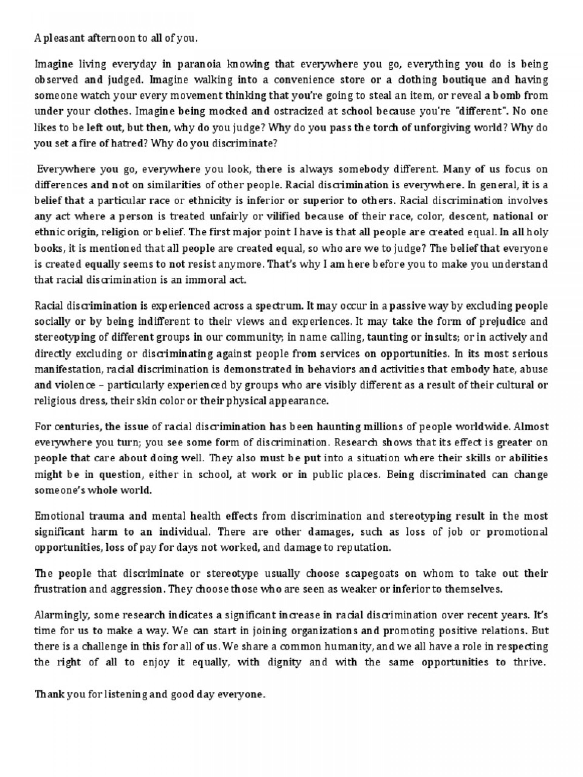 004 Essays On Racism Essay Unbelievable In Schools Best Argumentative 1920