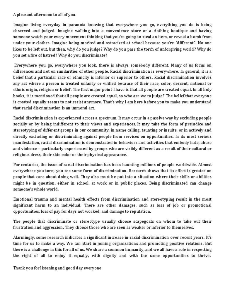 004 Essays On Racism Essay Unbelievable In Schools Best Argumentative Full