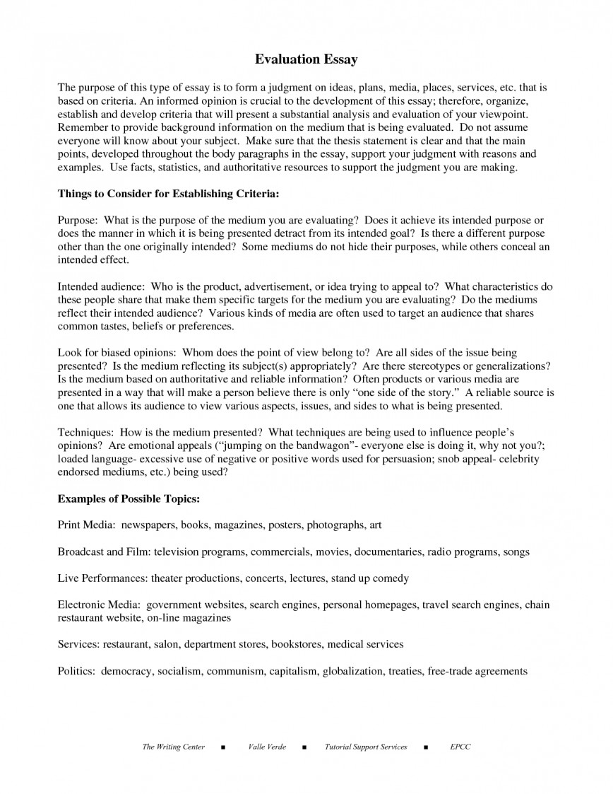 004 Example Evaluation Essay Resume Writing An Professional Dissertation How To Outstanding Write On A Movie Restaurant Book