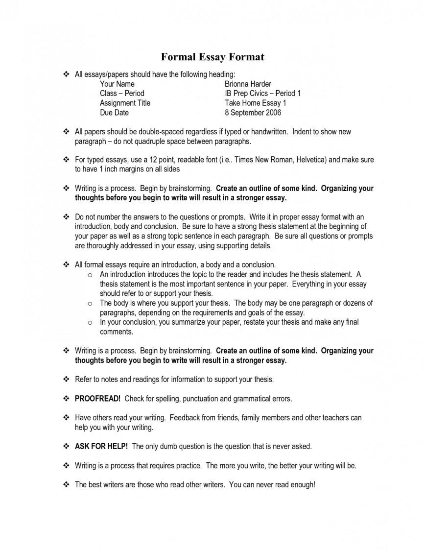 004 Formal Essay Format 326904 Fearsome Mla English Letter Spm Pt3
