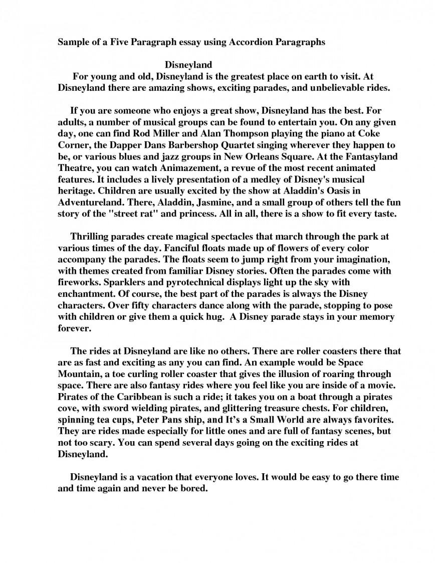004 Format Of Paragraph Essay Inspirational Sample Five Stirring 5 Pdf For Jr High