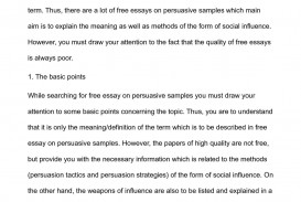 004 Free Persuasive Essay P1 Awesome Outline Template On Texting While Driving Examples