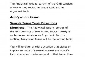 004 Gre Sample Essays Essay Example Issue Topics For Diversity Argumentative Writing Format Test Papers With Soluti Books Tips Preparation Pdf Practice Strategies Examples Formidable Awa Answers Prompts