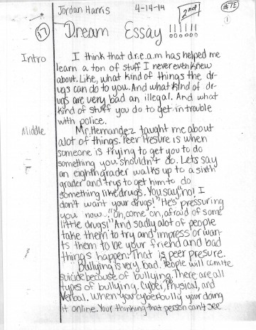 004 Harris Page1 Bullying Essay Awful Cyber Outline Creative Titles Anti Example 360