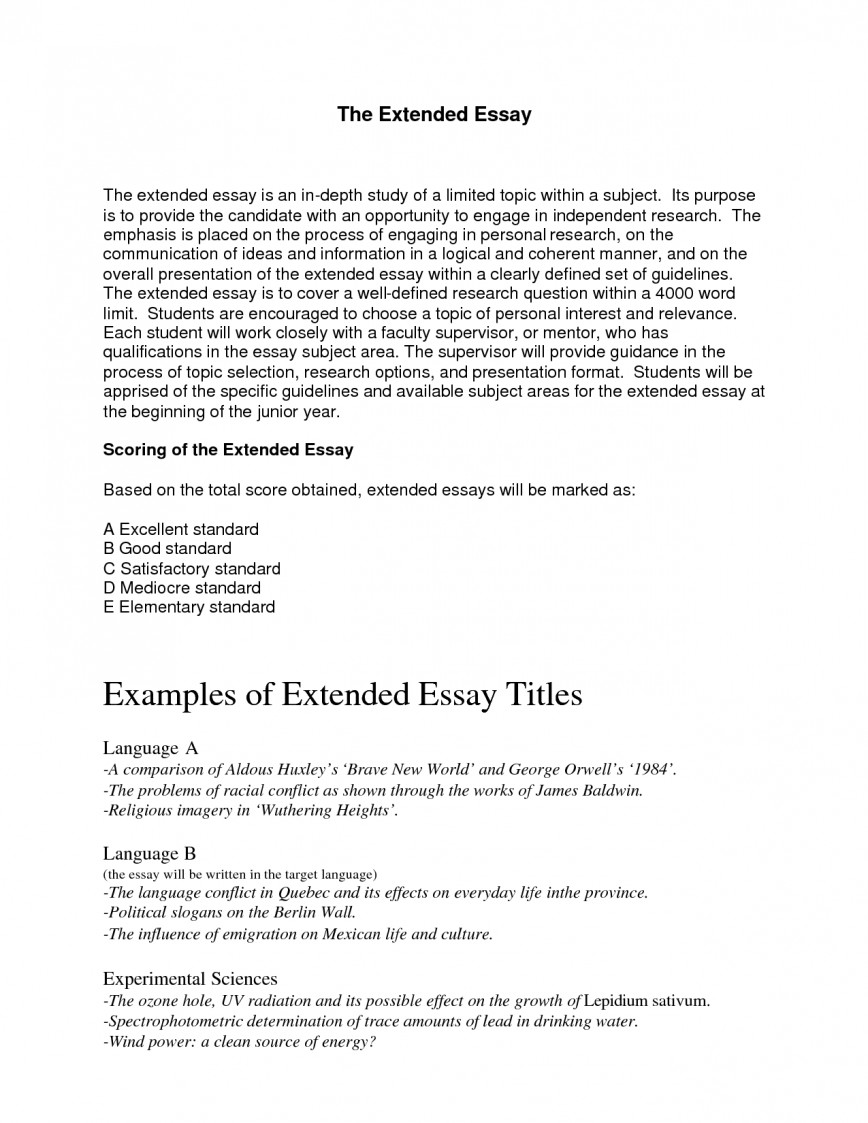 Awesome History Extended Essay Topics