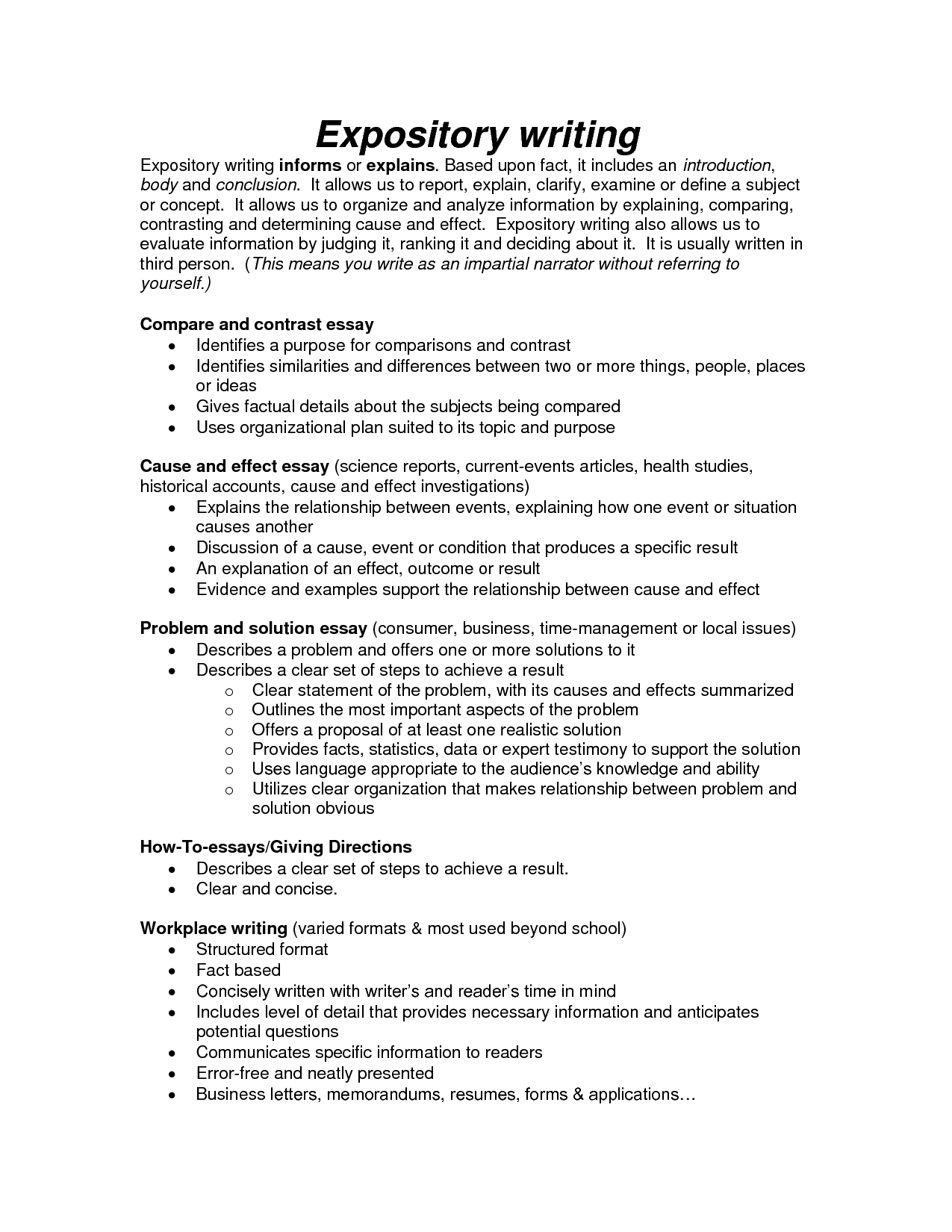 004 How To Write An Informational Essay Example Bizdoskacom Page Short Expository Examples Of L Frightening Informative 6th Grade 7th Thesis Full
