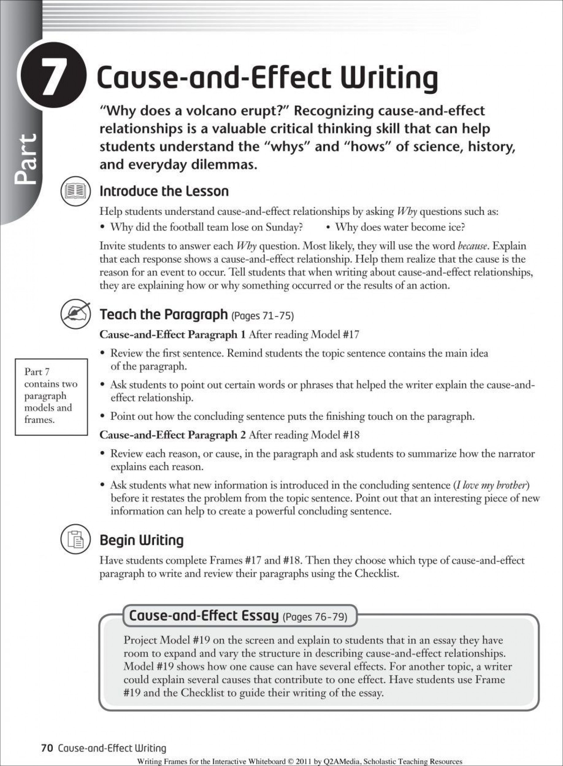 004 How To Write Cause And Effect Essay Fearsome A Good Step By 1920