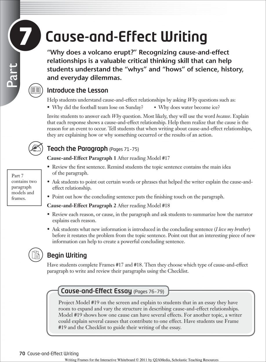 004 How To Write Cause And Effect Essay Fearsome A Good Step By Full