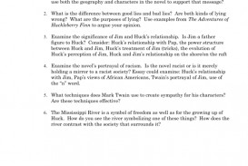 004 Huck Finn Essay 006839058 1 Awesome Huckleberry Argumentative Topics The Adventures Of Prompts