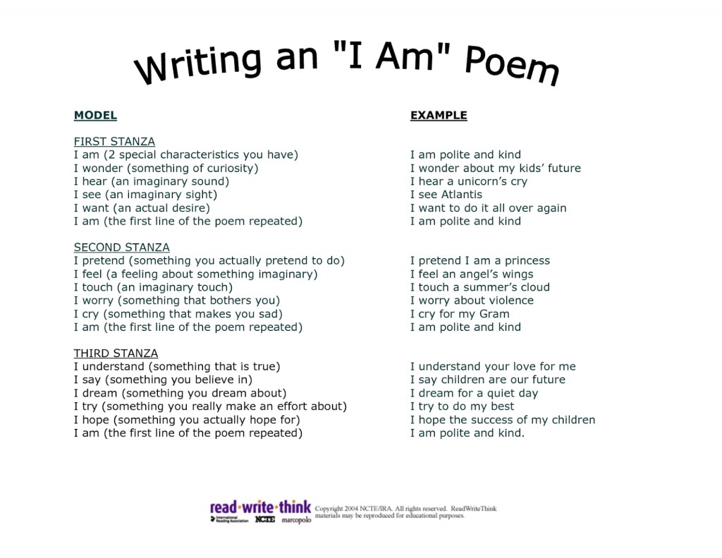004 I Am Poem Template Hti3gt2t Essay Of Who Awesome As A Person Filipino Writing Aim In Life Large