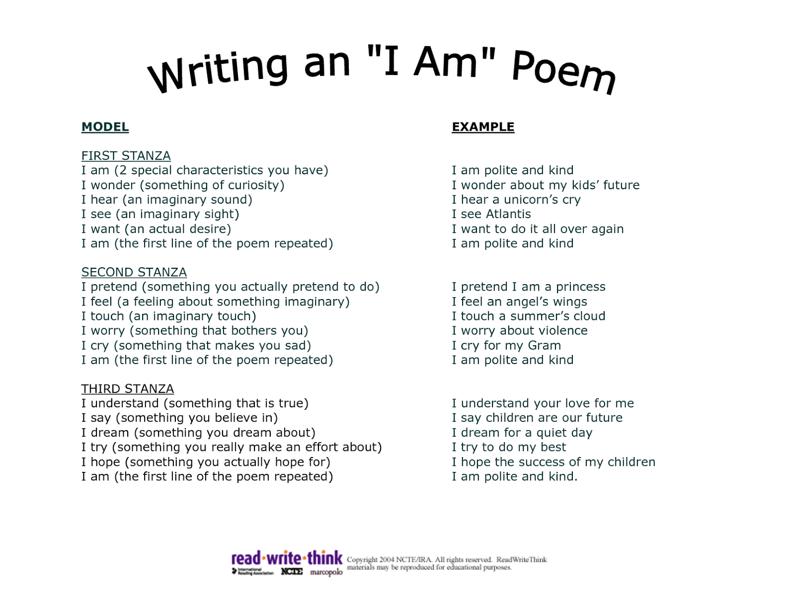 004 I Am Poem Template Hti3gt2t Essay Of Who Awesome As A Person Filipino Writing Aim In Life Full