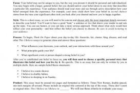 004 I Believe Essay 008807227 1 Impressive This Examples College Rubric Format