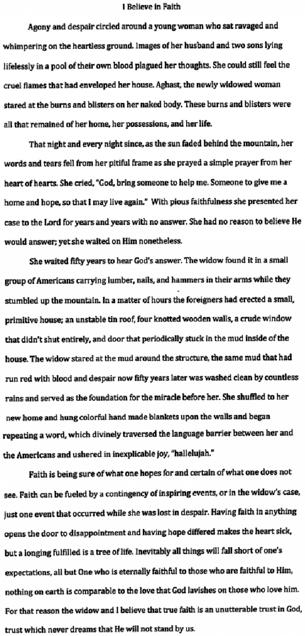 004 Is There One True Religion Essay Example Charlies This I Unique Large
