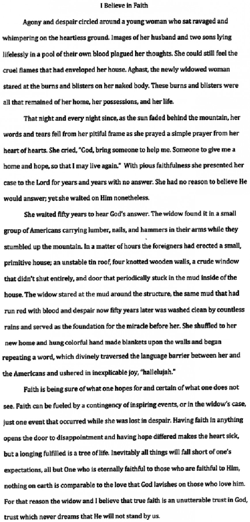 004 Is There One True Religion Essay Example Charlies This I Unique